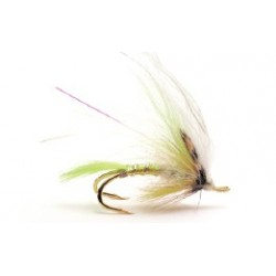 Moscas Guideline de Salmón con doble anzuelo - G-4 Yellow White Wing