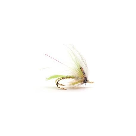 Moscas Guideline de Salmón con doble anzuelo - G-4 Yellow White Wing