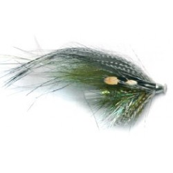 Moscas Guideline Salar Tube Flies G-15 Grey & Green