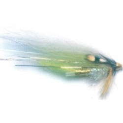 Moscas Guideline Salar Tube Flies G-17 Yellow White Wing