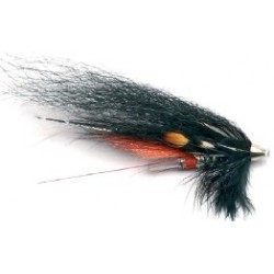 Moscas Guideline Salar Tube Flies G-21 Black & Silver