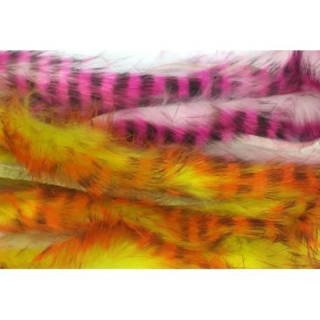 Tiras de piel de conejo Bicolor Barrado