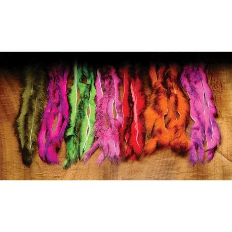 Tiras de piel de conejo Bicolor