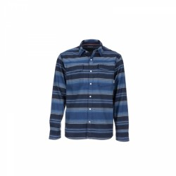 Camisa Simms Gallatin Flannel RICH BLUE STRIPE
